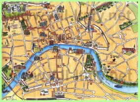 Туристическая карта Пизы с достопримечательностями
