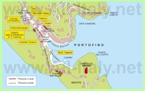 Подробная карта Портофино