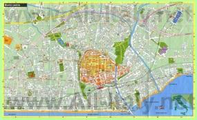 Подробная карта Римини на русском языке