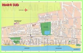 Туристическая карта города Римини