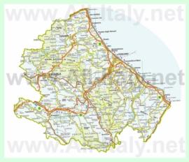 Подробная карта Абруццо