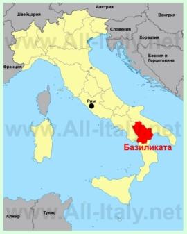 Базиликата на карте Италии