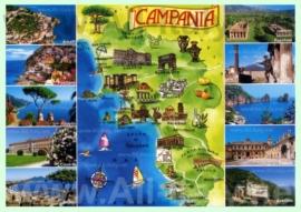 Туристическая карта Кампании