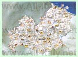 Туристическая карта Молизе