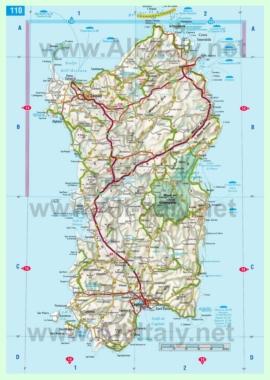 Карта дорог Сардинии