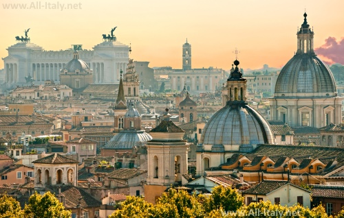 Красивый вид на Рим