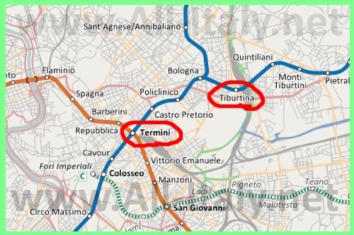 Вокзалы Рима на карте